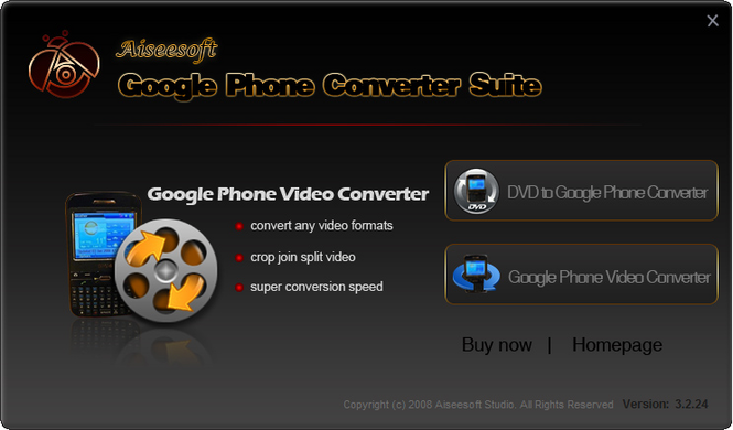 Aiseesoft Google Phone Converter Suite Screenshot