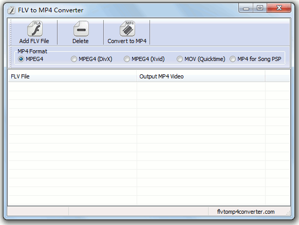FLV to MP4 Converter Screenshot