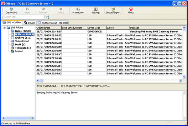 SMSgee PC SMS Gateway Server Screenshot 1