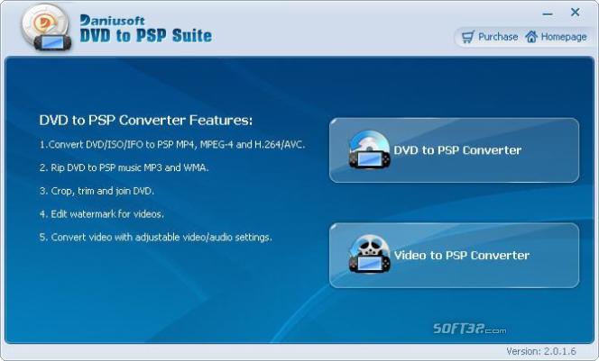 Daniusoft DVD to PSP Converter Screenshot 1