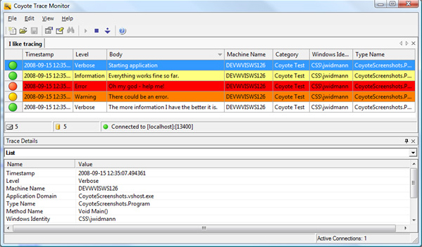 Coyote Tracing for .NET Screenshot 1