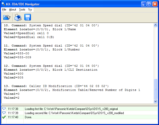 KX-TDA Navigator Screenshot 1
