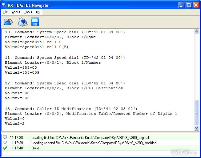 KX-TDA Navigator Screenshot 2