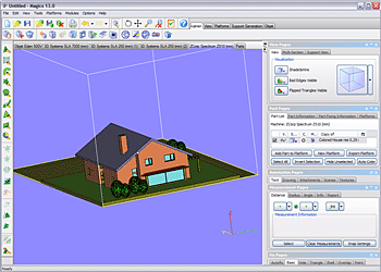 Magics Rapid Prototyping Sofware Screenshot