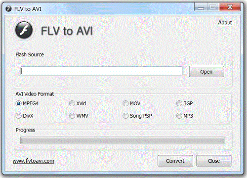 FLV to AVI Screenshot