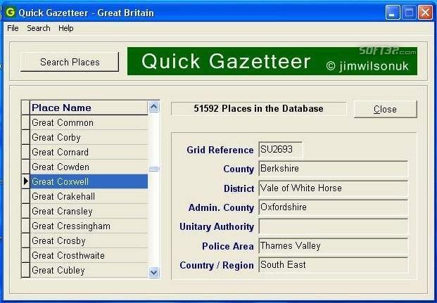 Quick Gazetteer - Great Britain Screenshot 1