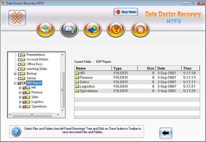 NTFS Hard Disk Data Recovery Screenshot