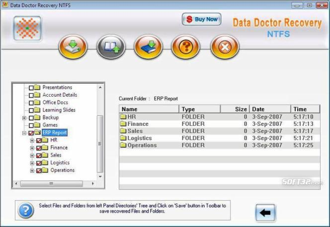 NTFS Hard Disk Data Recovery Screenshot 3