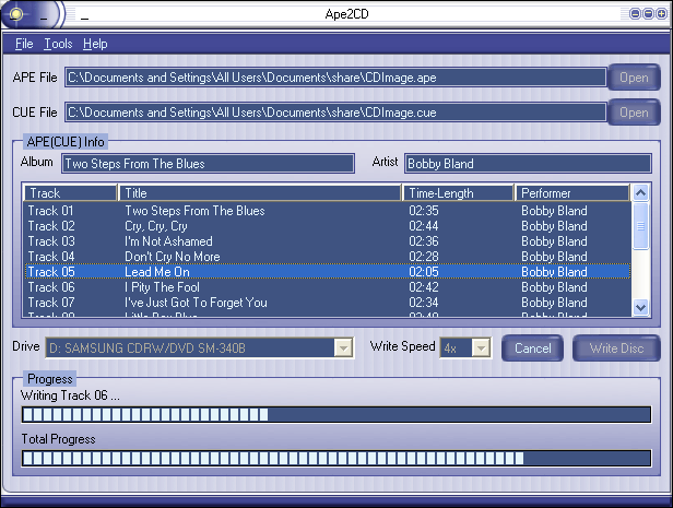 Ape2CD Screenshot