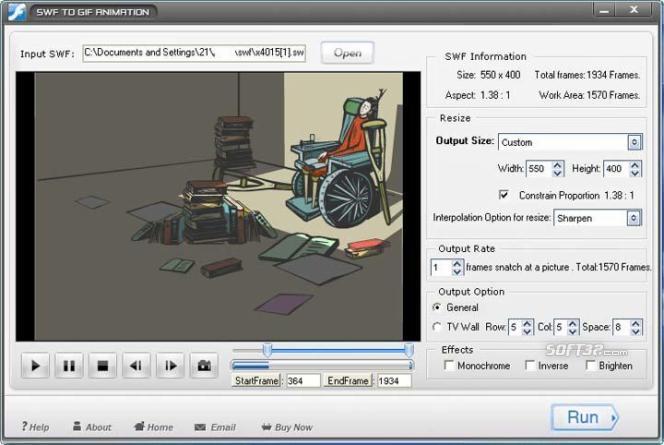 SWF to GIF Screenshot 3