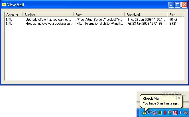 Cobra Check Mail Screenshot 3