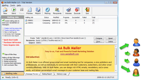 AA Bulk Mailer Screenshot
