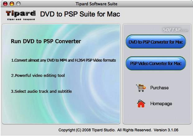 Tipard DVD to PSP Suite for Mac Screenshot 3