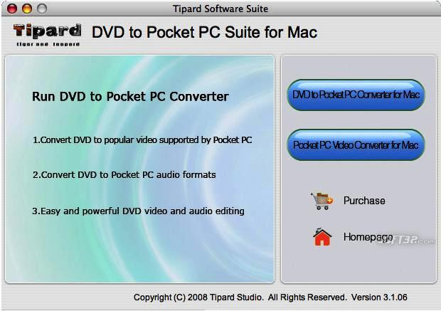 Tipard DVD to Pocket PC Suite for Mac Screenshot 3