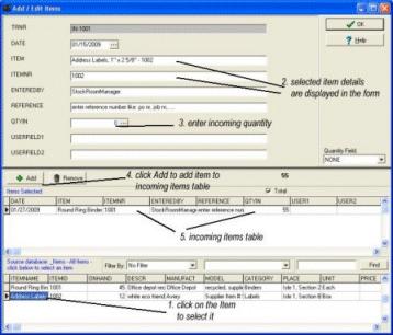 Stockroom Organizer Pro Screenshot