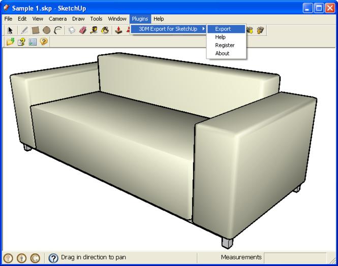 3DM Export for SketchUp Screenshot