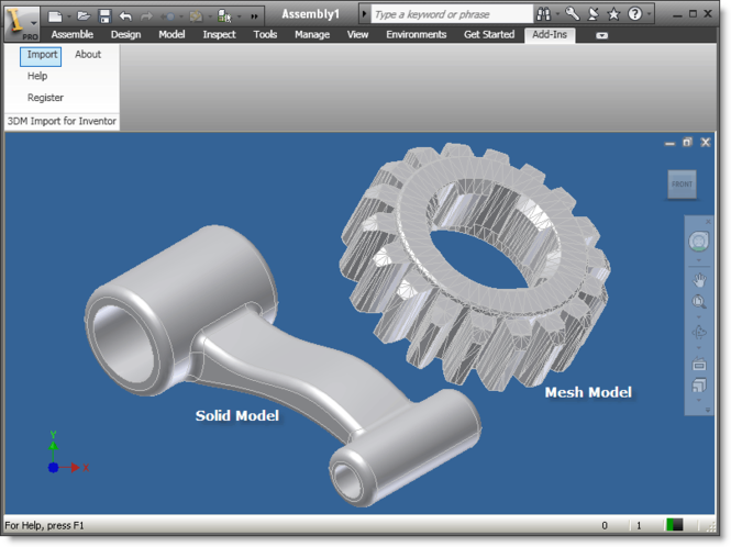 3DM Import for Inventor Screenshot