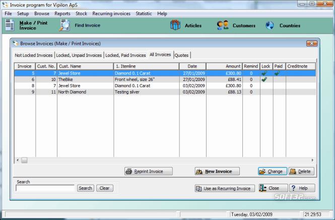 All-Round Invoice Screenshot 4