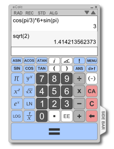 eCalc Scientific Calculator Screenshot