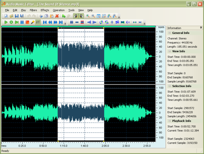 Audio Music Editor Screenshot 1