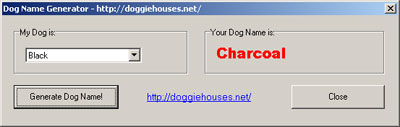Dog Name Generator Screenshot