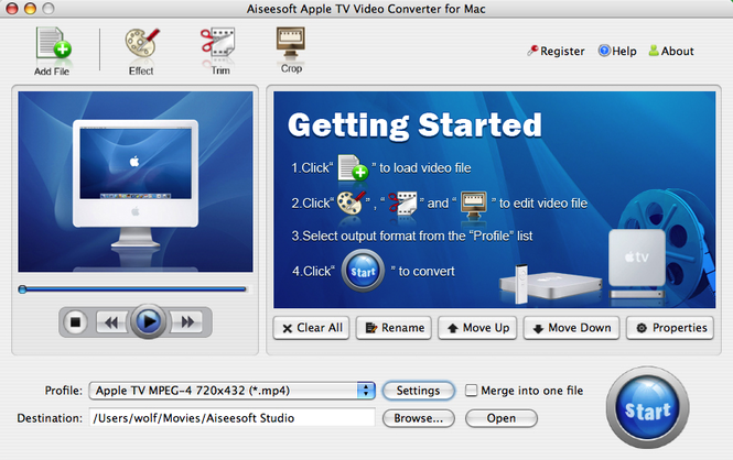 Aiseesoft Apple TV Converter for Mac Screenshot