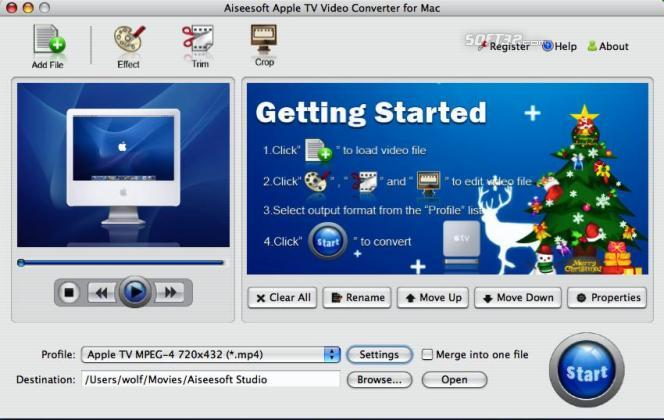Aiseesoft Apple TV Converter for Mac Screenshot 2