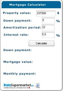 Canada Morgage Calculator Screenshot