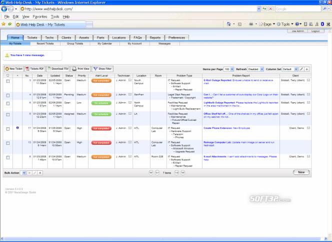 Web Help Desk Software - Free Ed. (.exe) Screenshot 2