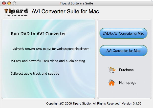 Tipard AVI Converter Suite for Mac Screenshot 1