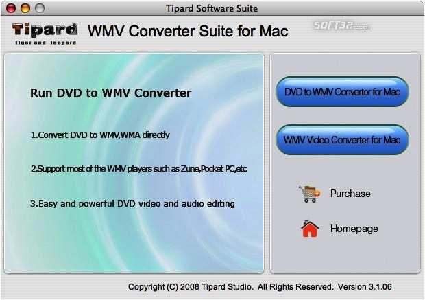 Tipard WMV Converter Suite for Mac Screenshot 2
