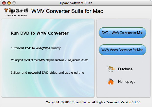 Tipard WMV Converter Suite for Mac Screenshot