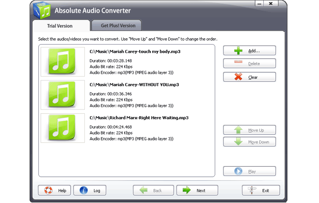 Absolute Audio Converter Screenshot