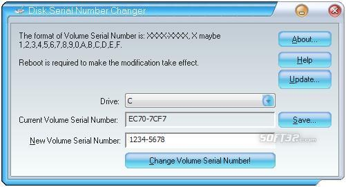 Disk Serial Number Changer Screenshot 2