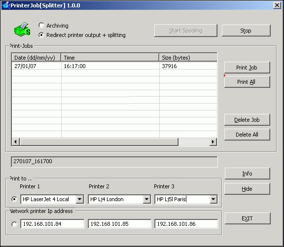 PrinterJob[Splitter] Screenshot 1