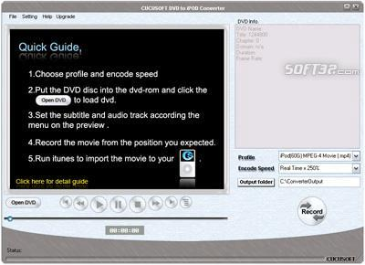 JenoSoft DVD to iPod Converter Screenshot
