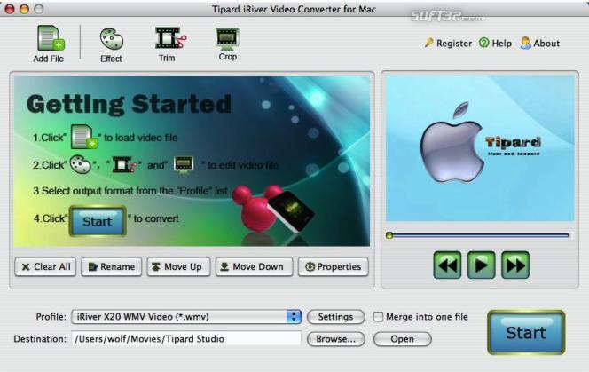 Tipard iRiver Video Converter for Mac Screenshot 3