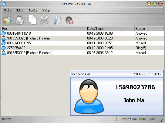 Active Caller ID Screenshot