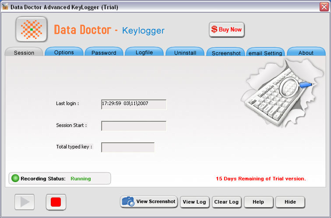Advanced Keyboard Logger Screenshot 1