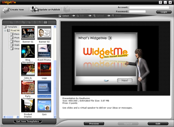 Reallusion WidgetMe Screenshot