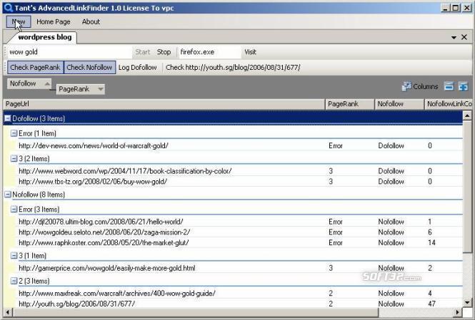 AdvancedLinkFinder Screenshot 3