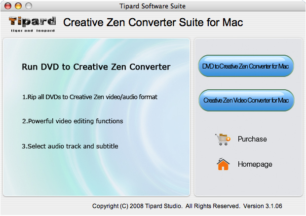 Tipard CreativeZenConverterSuitefor Mac Screenshot