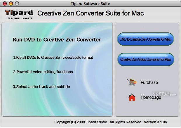 Tipard CreativeZenConverterSuitefor Mac Screenshot 3