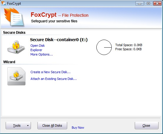 FoxCrypt File Protection standard Screenshot 1