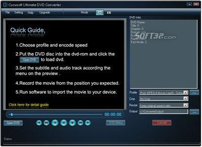 JenoSoft Ultimate DVD Converter Screenshot