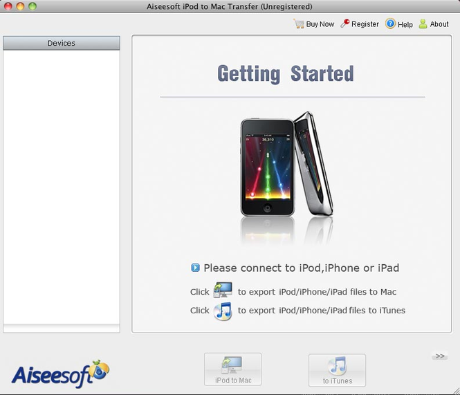 Aiseesoft iPod to Mac Transfer Screenshot