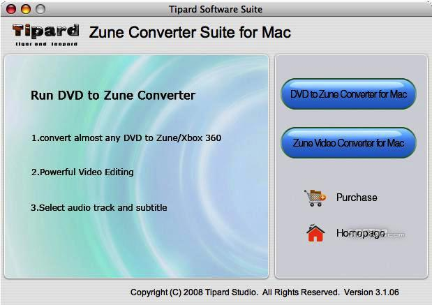Tipard Zune Converter Suite for Mac Screenshot 3