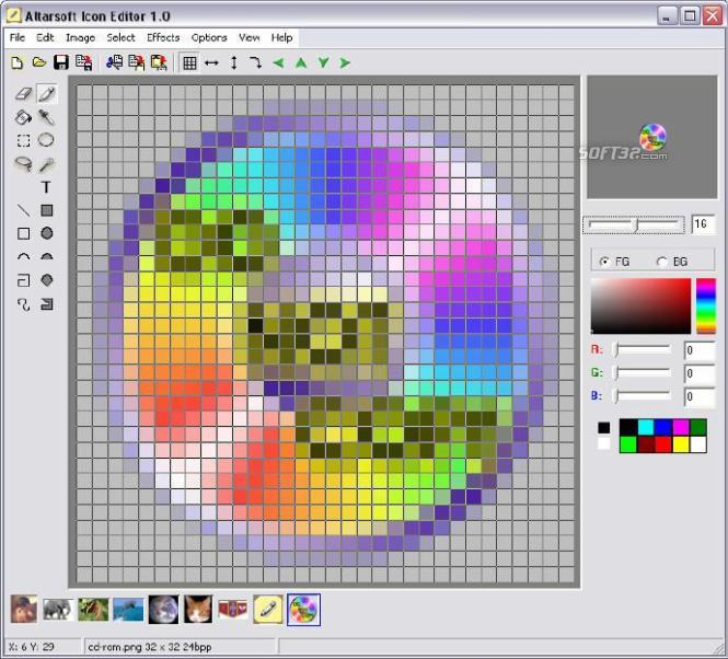Altarsoft Icon Editor Screenshot