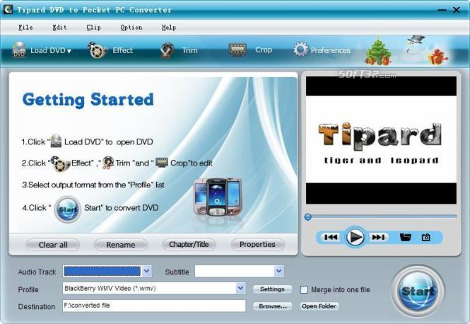 Tipard DVD to Pocket PC Converter Screenshot 3