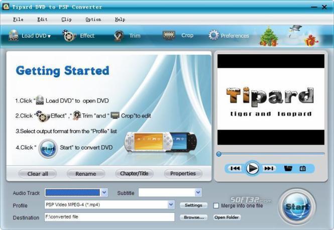 Tipard DVD to PSP Converter Screenshot 3